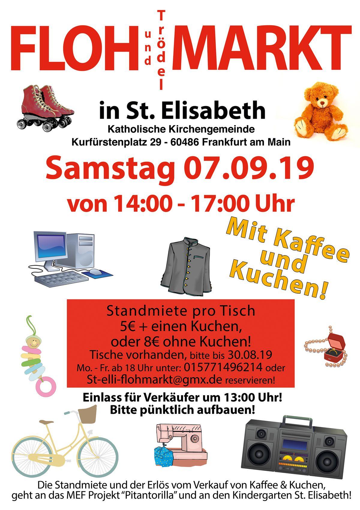 Flohmarkt in St. Elisabeth: Samstag, 07.09.2019, 14 bis 17 Uhr