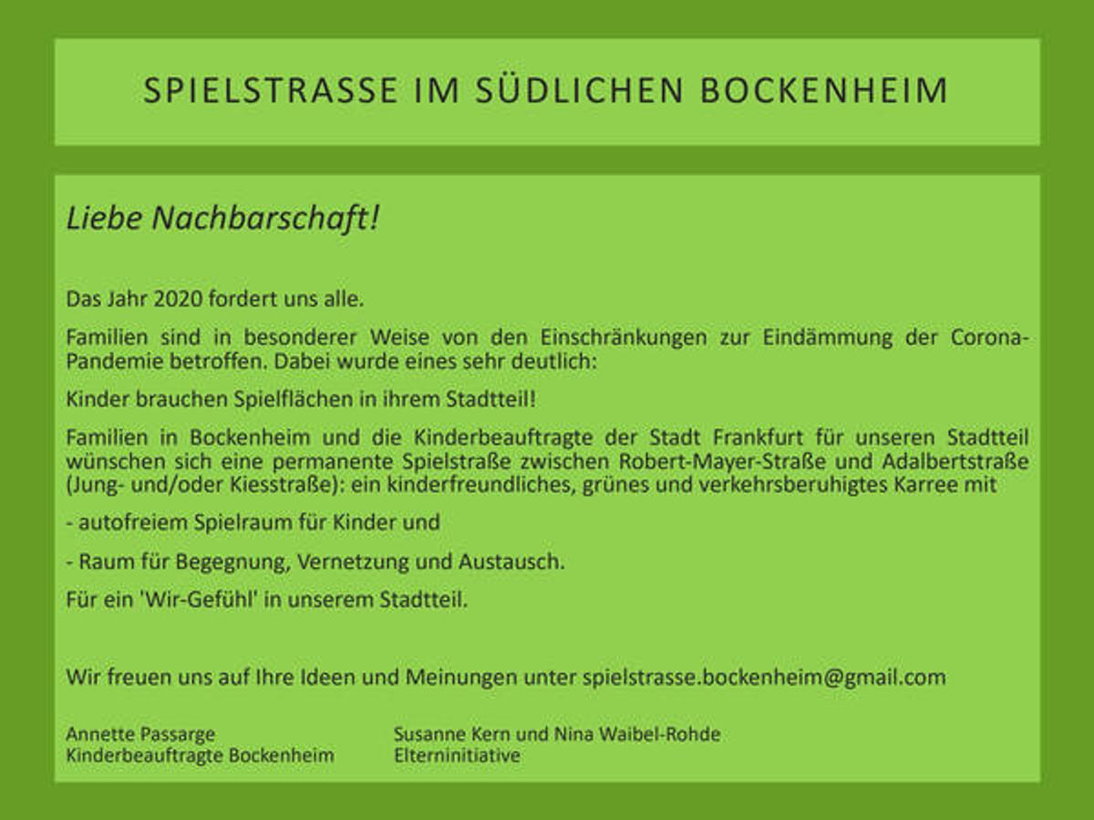 SPIELSTRASSE BOCKENHEIM